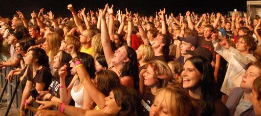 Keine kleine Sache: die erste Auflage des Mini-Rock-Festivals in 2005
